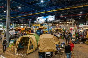 Tenten op de Kampeer & Caravan Jaarbeurs