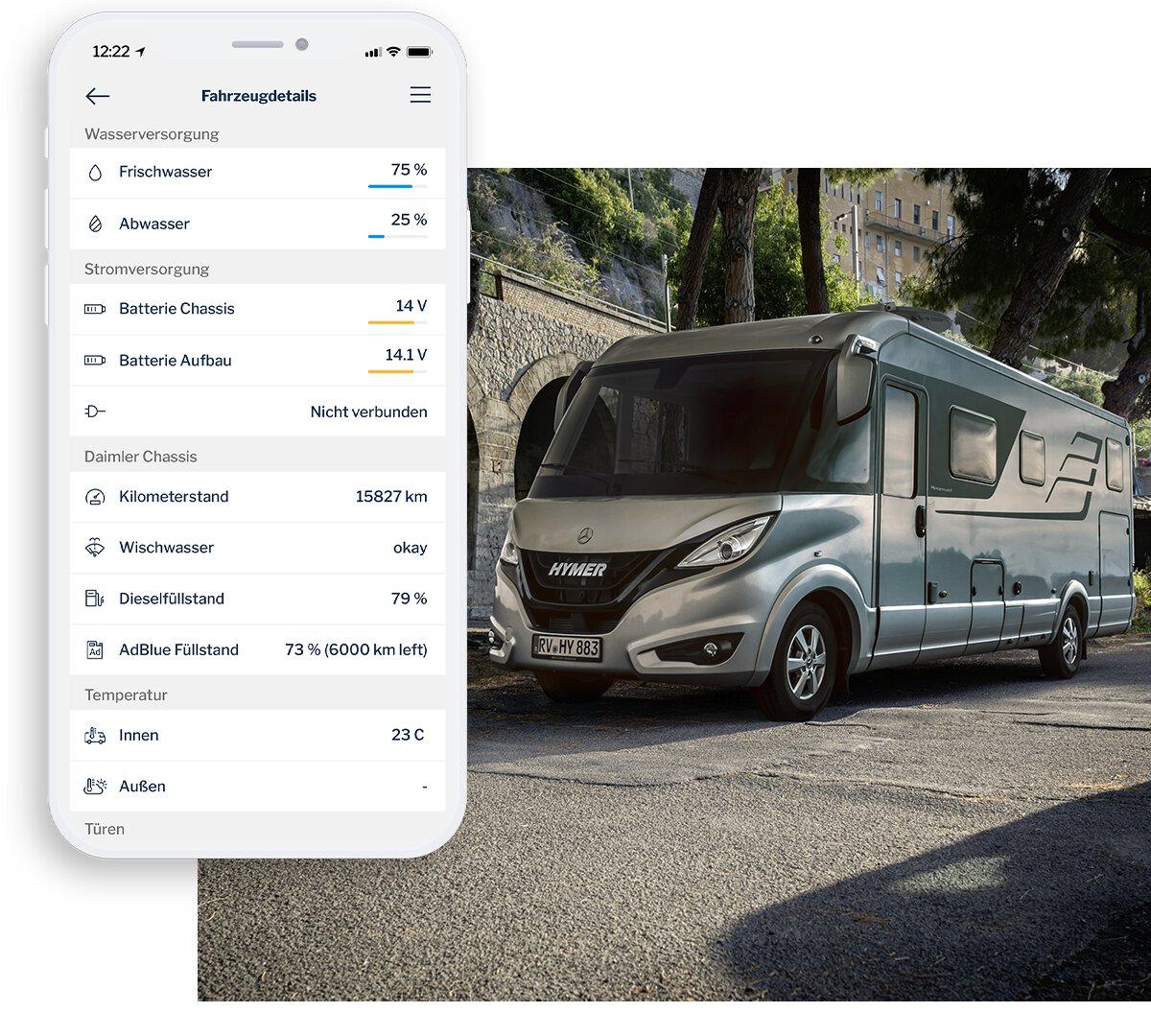 Nieuw: Connect-app van Hymer